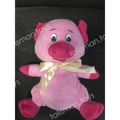 свинка с бантиком