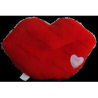 Подушка в форме губ с рисунком
