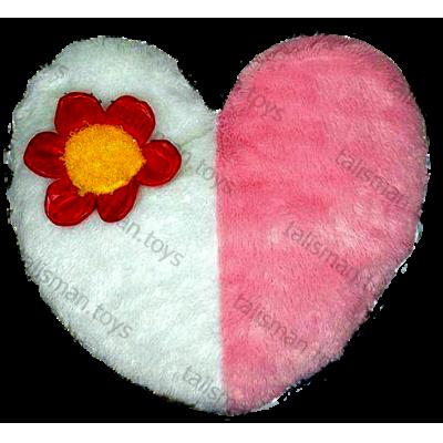 Подушка сердце разноцветная
