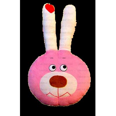 Заяц Флешка розовый