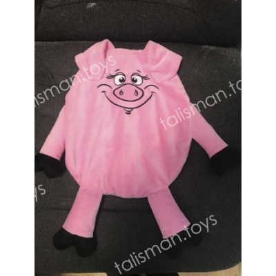 свинка рюкзак розовая